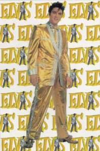 Elvis Poster - Gold Suit