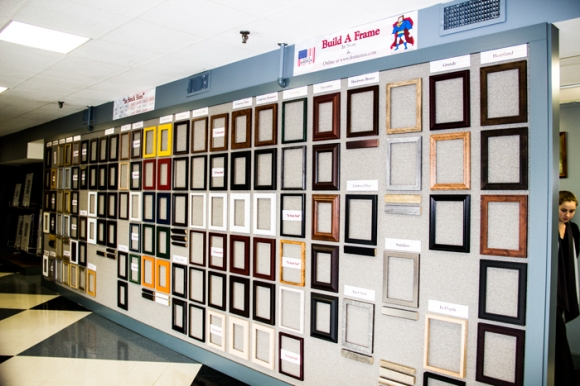 Wall of Picture Frames